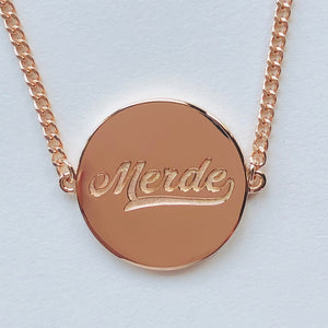 Old School RoseGold Necklace
