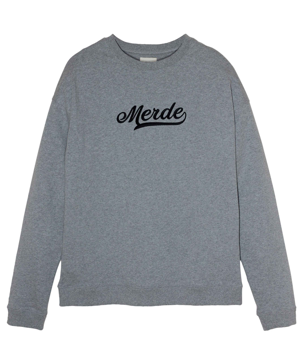 Old School Grey Oversize Sweatshirt