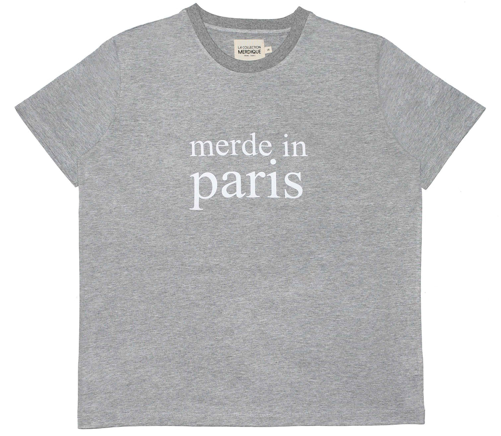 Merde in Paris Grey Women's T-shirt