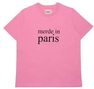 Merde in Paris Pink Women's T-shirt