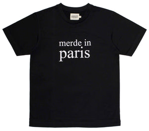 Merde in Paris Black Men's T-shirt