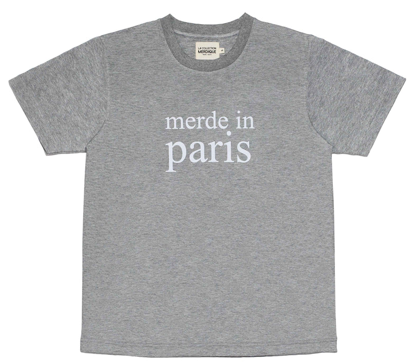 Merde in Paris Grey Men's -Tshirt