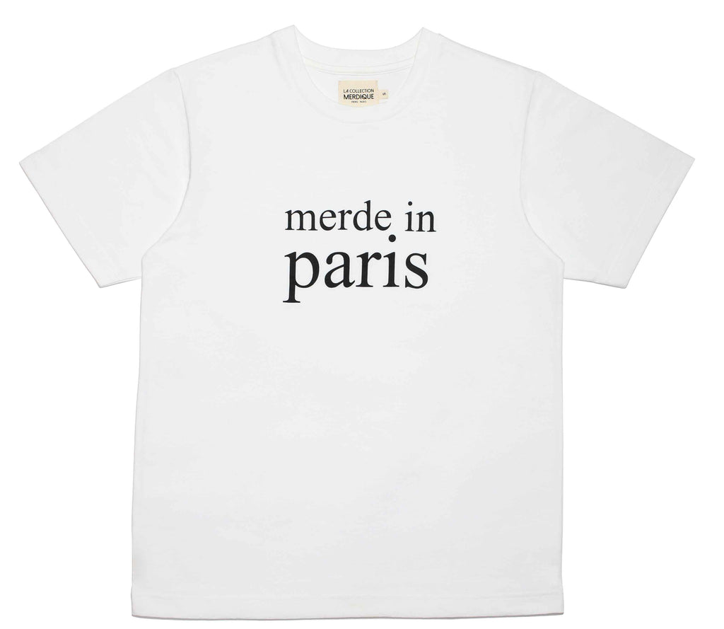 Merde in Paris White Men's T-shirt