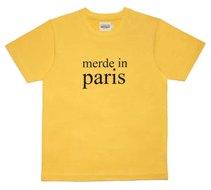 Merde in Paris Yellow Men's T-shirt