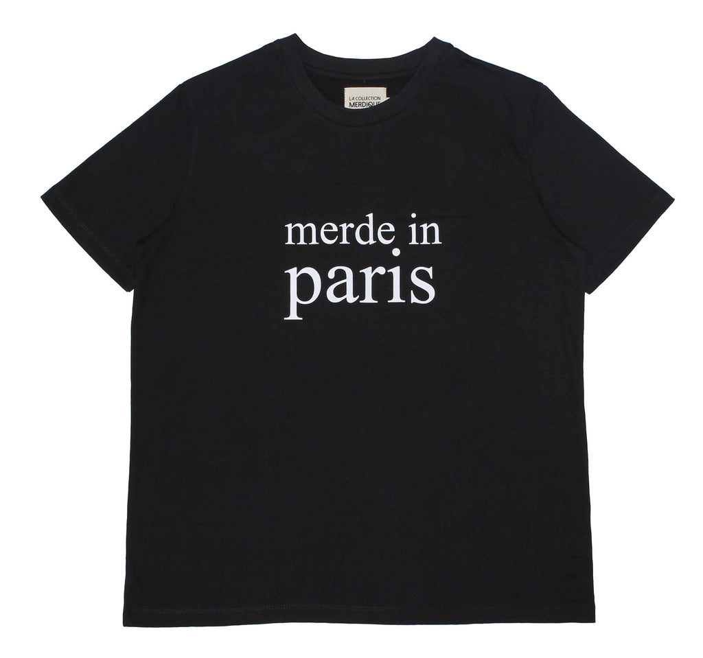 Merde in Paris Black Women's T-shirt