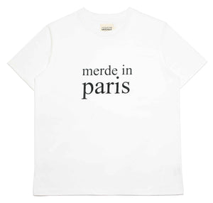 Merde in Paris White Women's T-shirt