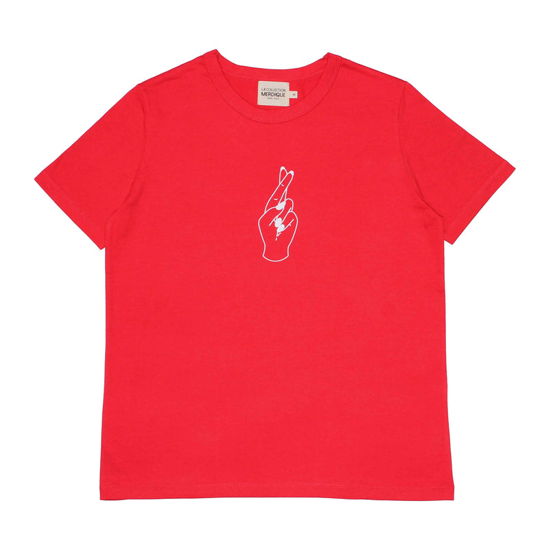 Fingers Red Women T-shirt