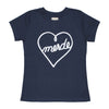 Heart Navy Women's T-shirt