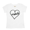 Heart White Women's T-shirt