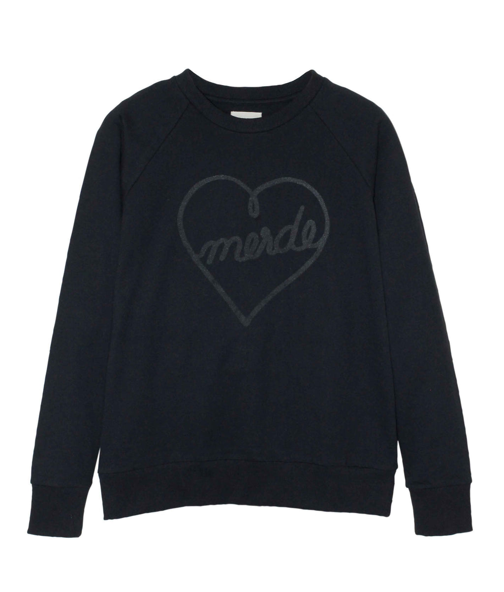 SweatHeart Black on Black Sweatshirt