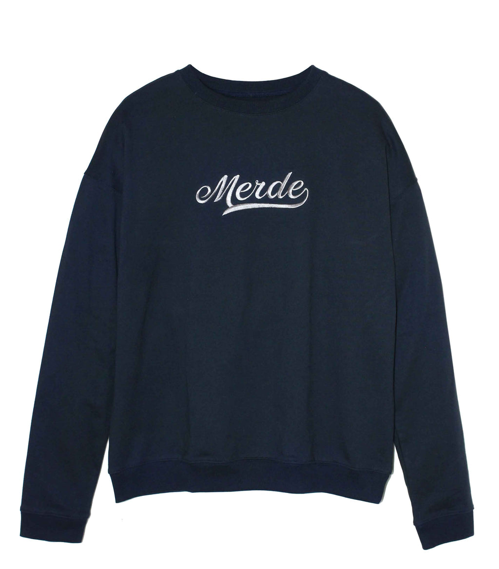 Old School Navy Oversize Sweatshirt