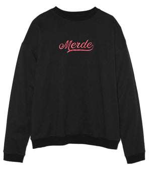 Old School Black Oversize Sweatshirt
