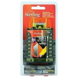 100 x Sterling Premium Heavy Duty Trade Trimming Blades w/ Dispenser