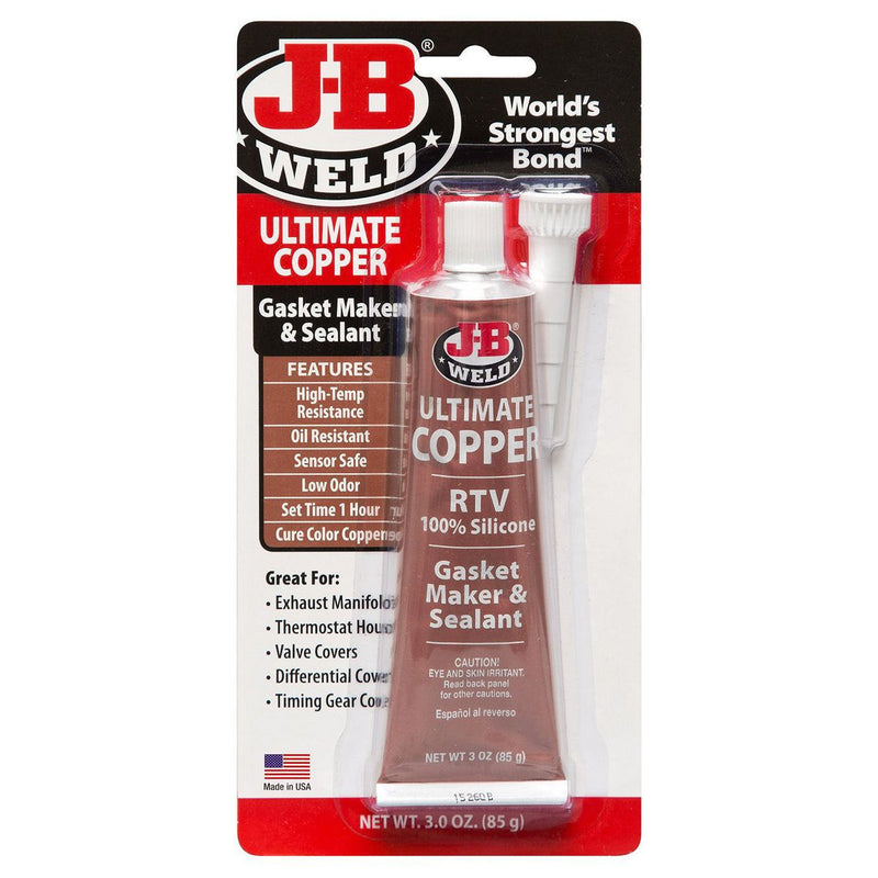 JB Weld Ultimate Copper High Temperature Silicone Gasket Maker 85gm