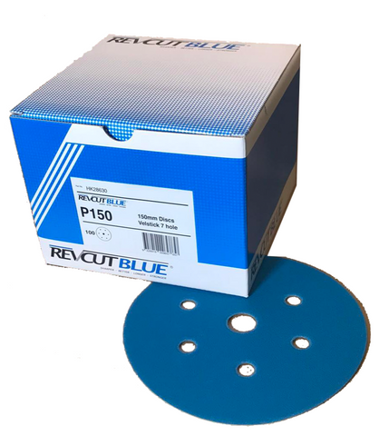 Sanding Discs 150mm Revcut Blue Box 100