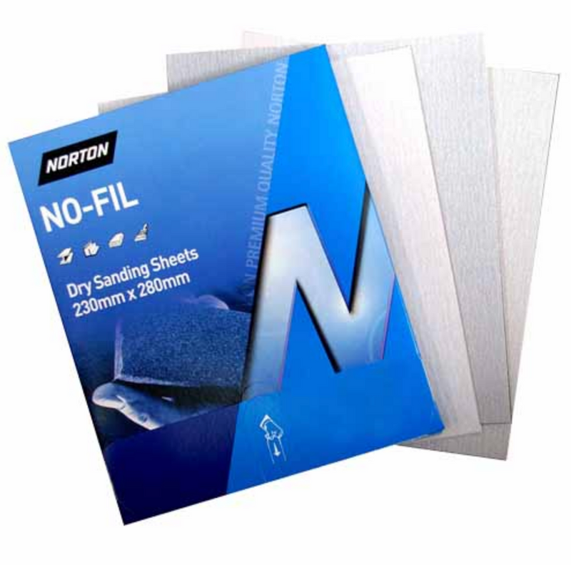 Norton Dry Sandpaper Packet of 50