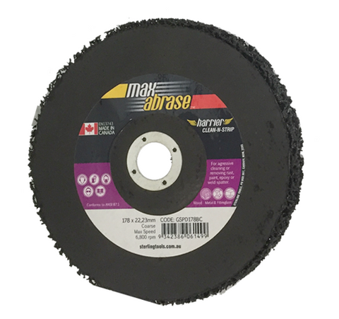"Clean & Strip Disc 180MM (7"") STRIP DISC RAISED"