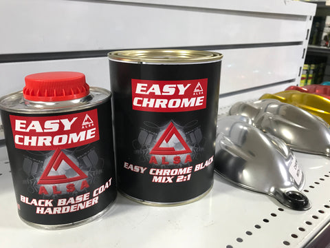 Alsa Chrome Paint Black Base Coat