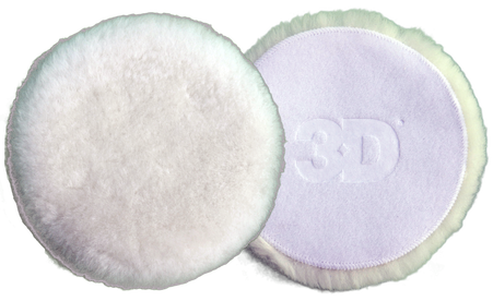 "3D White Wool Pad 3"". Packet of 2"
