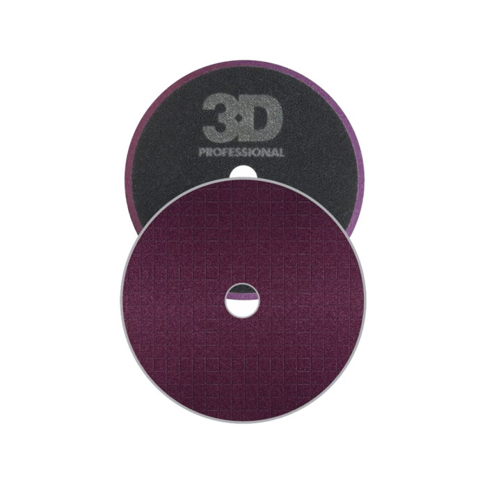 "3D Spider Foam Drk Purple Heavy Cut Pad 7.5"" (Rotary)"