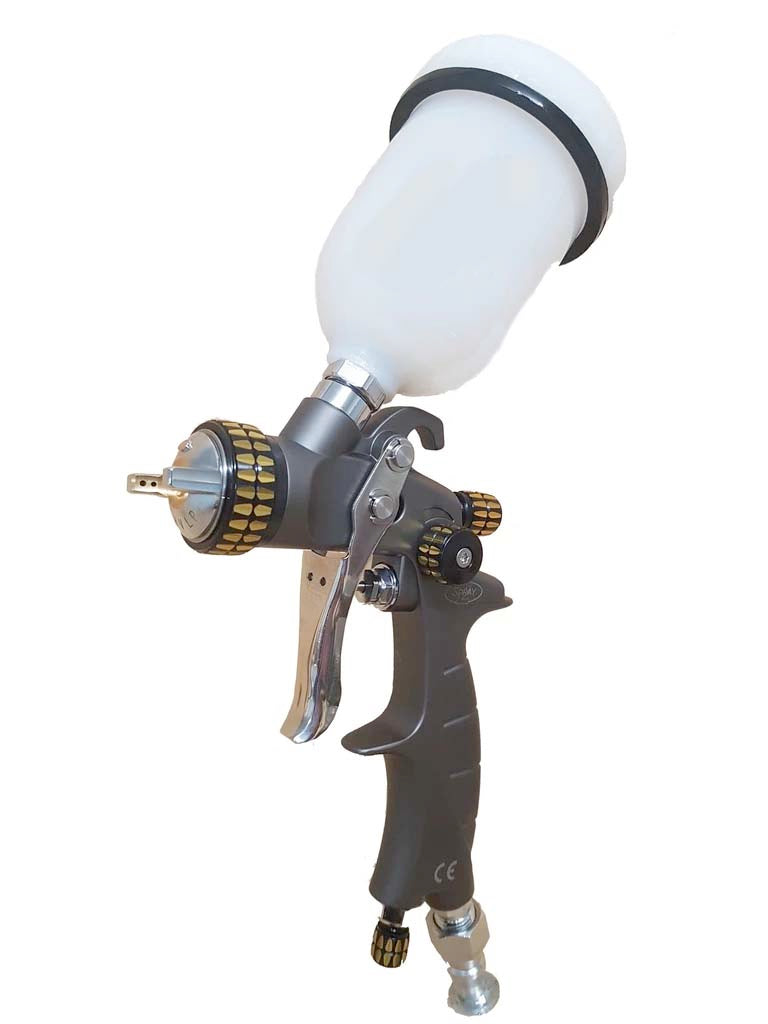 2Spray Gravity Feed General Purpose Spray Gun - 1.3mm/1.8mm Setups