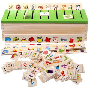 Montessori Children's educational toys wooden toys classified storage toy gifts for Girls Boys learning shipping from russia - MeriMeriShop