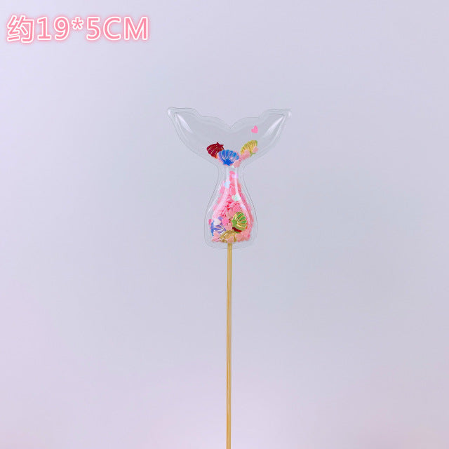 Bling Fairy PVC Cake Topper Unicorn Love Crown Cloud Shiny Flamingo Cupcake Topper for Wedding Birthday Party Cake Decorations