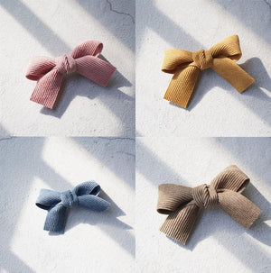 4pcs Velvet Bow Hairpins Girl' Lovely Fashion Hair Clips Women's Hair Korea Accessories Hairgrips Children's Head wear