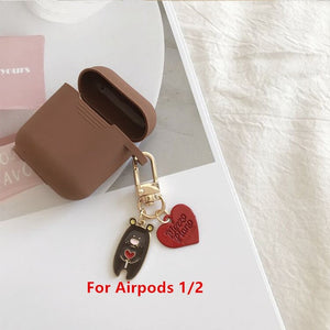 Cute Cherry Dog Silicone Case for Apple Airpods Pro Case Air pods Accessories Bluetooth Earphone Headphone Protective Cover