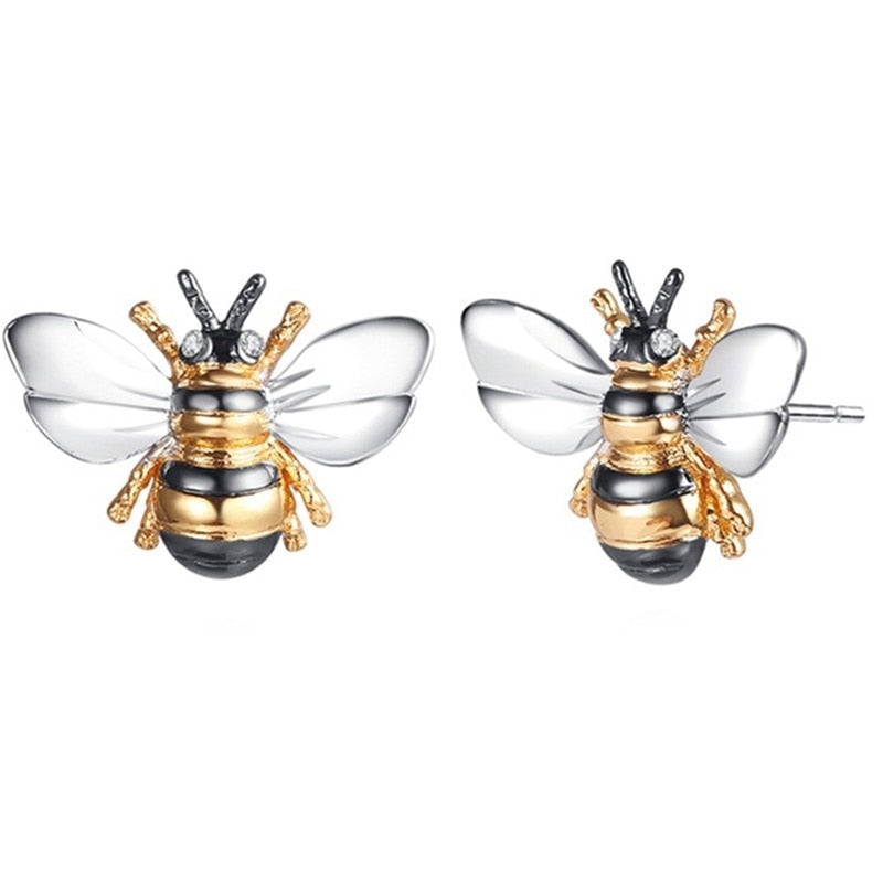 New Trendy Little Bee Earings For Girl Christmas Fashion Gift Jewelry Animal Party Wedding Female Unique Jewelry