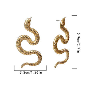 Hot Dragon Statement Earrings Cuff Earrings Meta Punk Style Snake Shape Fashion Jewelry Firery Dragon Stud Earrings