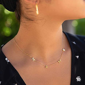 Letter Mama Necklace Women Choker Gold Sliver Color Baby Mom Chain Charm Collier Mom Necklace Female Jewelry Mother's Day Gift - MeriMeriShop