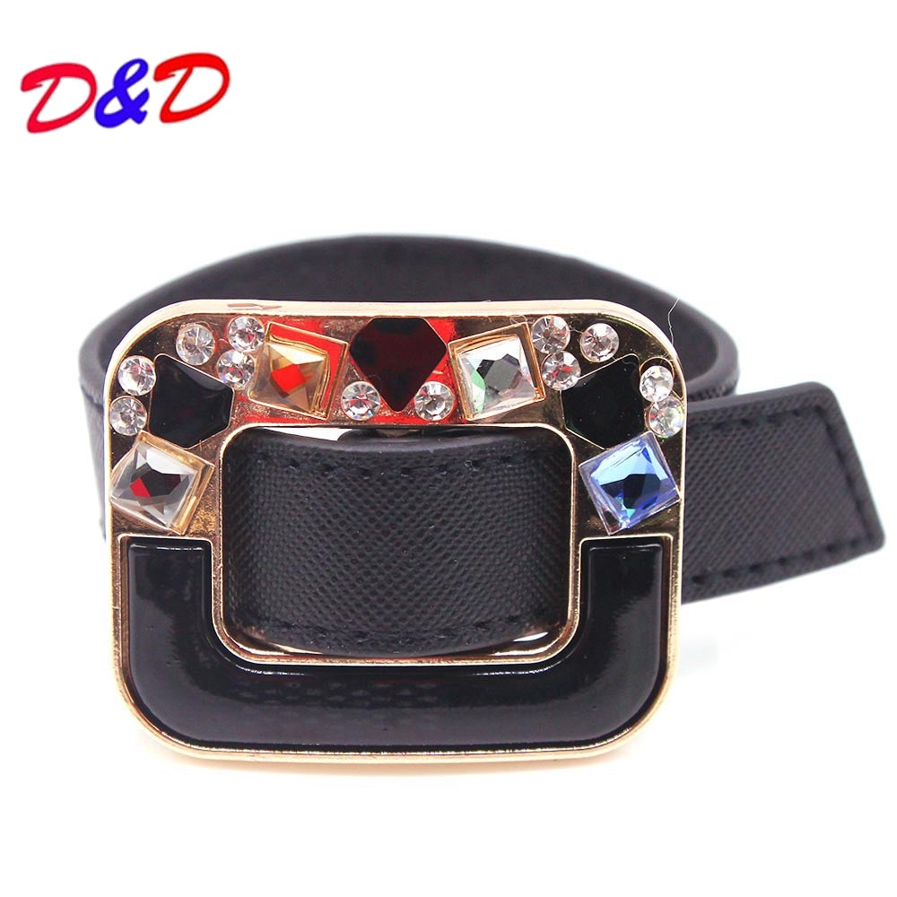 D&D European Fashion Punk Wide Double color Leather Bracelets & Bangles for Women Cuff Bracelet Statement Jewelry