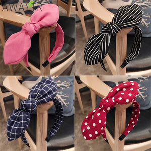Fashion Lady Fabric Big Ribbon Hair Hoop Girls Bow Widened Headband Ornaments Hairbands For Women Headwear Hair Accessories