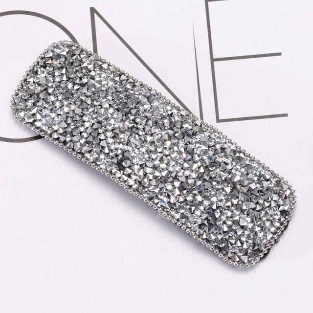 Square Bling Crystal Hairpins Headwear forWomen Girls Rhinestone Hair Clips Pins Barrette Accessories