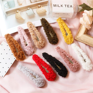 Korean Fashion female Hairpins handwork BB Hair Clips Pins Cute for Women Girls Hairgrips Accessories Headwear Hair Styling Tool