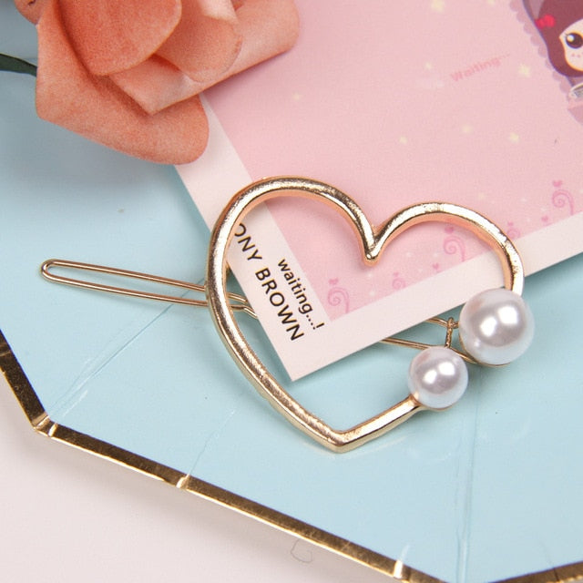 Korea Pearl Barrettes with Bowknot for Women Ladies Elegant Jewelry Hairgrips Valentine's Day Hair Pins Hair Accessories ON SALE