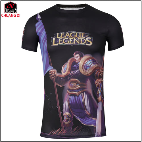 League of Legends Justice T Shirts Short Sleeve Cotton T-Shirt