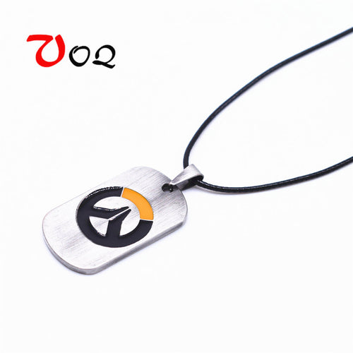 Overwatch Leather Choker Stainless Steel Necklace