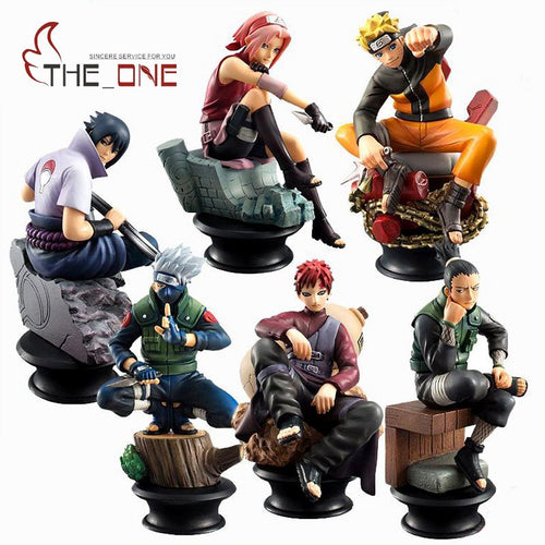 5 Pcs/Set 9cm Cartoon Naruto Sasuke Kakashi PVC Anime Action Figure Collection