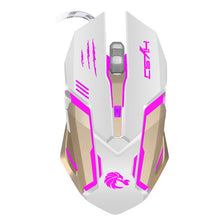 Malloom 2.4G Adjustable Wired Mouse Gaming 2400DPI 7 Buttons Optical USB Wired Gaming Game Mouse for PC Laptop #30