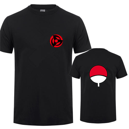 The Uchiha Clan T Shirt Men Anime Naruto Short Sleeve O-neck Cotton Uchiha Sasuke T-shirt Tops