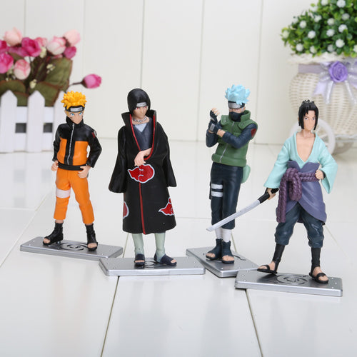 4pcs/set 12cm Naruto Uchiha Sasuke Naruto Uzumaki Model Toy Action Figure For Collection Gift