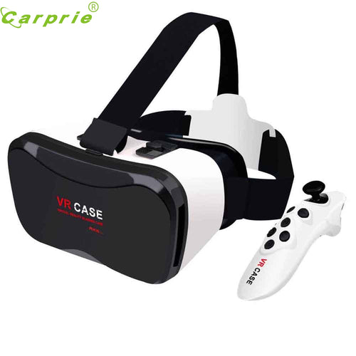 New VR Case Plus Immersive Virtual Reality Glasses For 4-6.3 inch SmartPhone+Remote Control