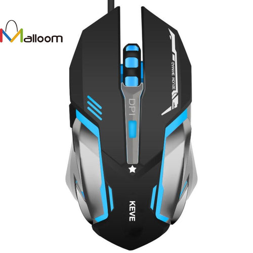 Malloom 3200DPI 6D Button USB Wired Optical Game Gaming Mouse
