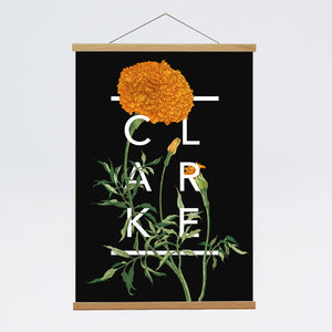 Personalised Marigold Botanical Flower Print