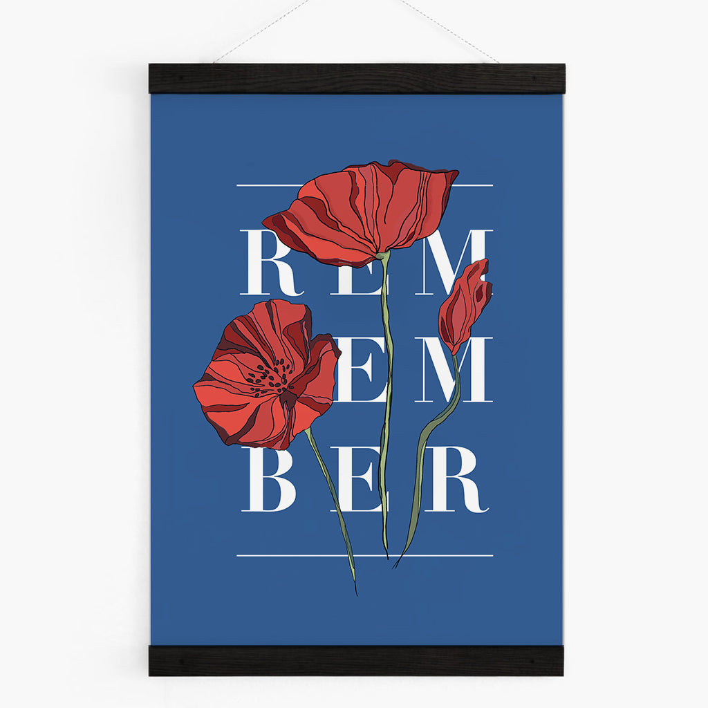 Personalised Poppy Botanical Flower Art Print