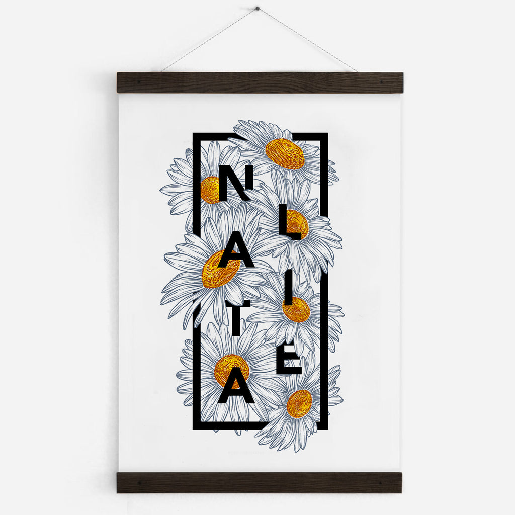 Personalised Daisy Botanical Flowers Print