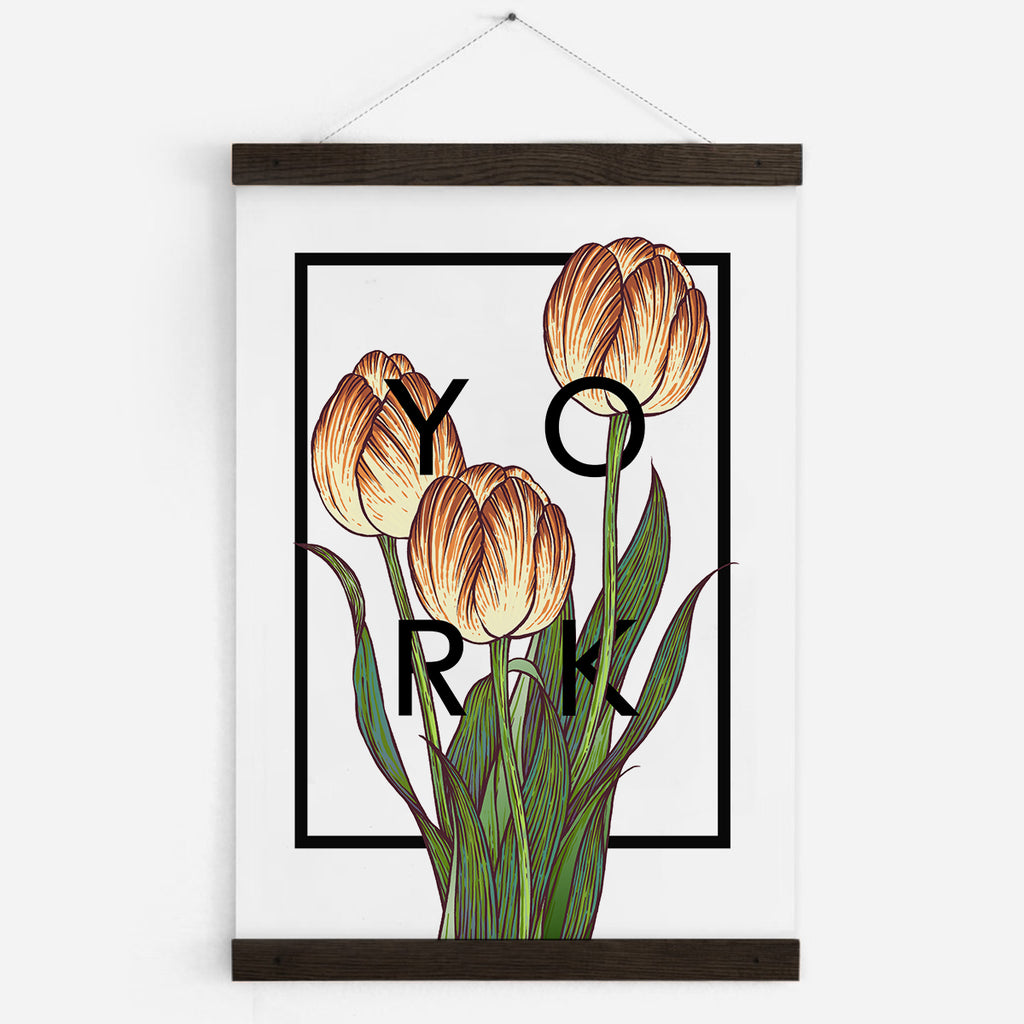 Personalised Tulips Botanical Flower Print
