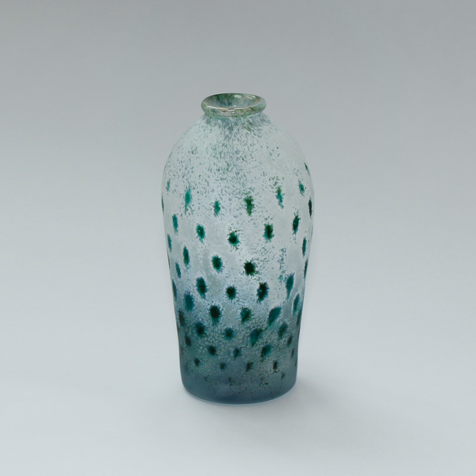 Rain Vase Speckled Blue